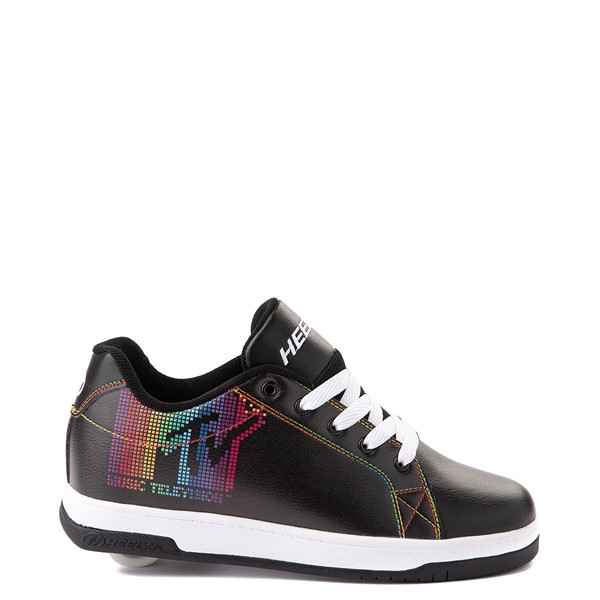 Main view of Womens Heelys Split MTV Skate Shoe - Black / Rainbow