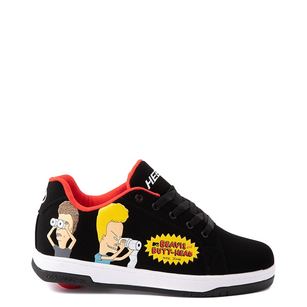 Main view of Mens Heelys Split Beavis and Butt-Head Skate Shoe - Black / Red