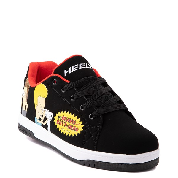 alternate view Mens Heelys Split Beavis and Butt-Head Skate Shoe - Black / RedALT1