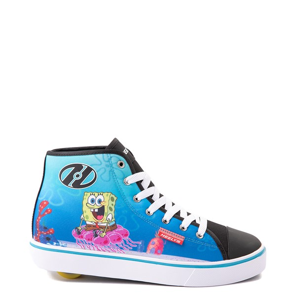 Main view of Mens Heelys Hustle Spongebob Squarepants™ Skate Shoe - Black / Blue