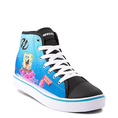 Alternate view of Mens Heelys Hustle Spongebob Squarepants™ Skate Shoe - Black / Blue