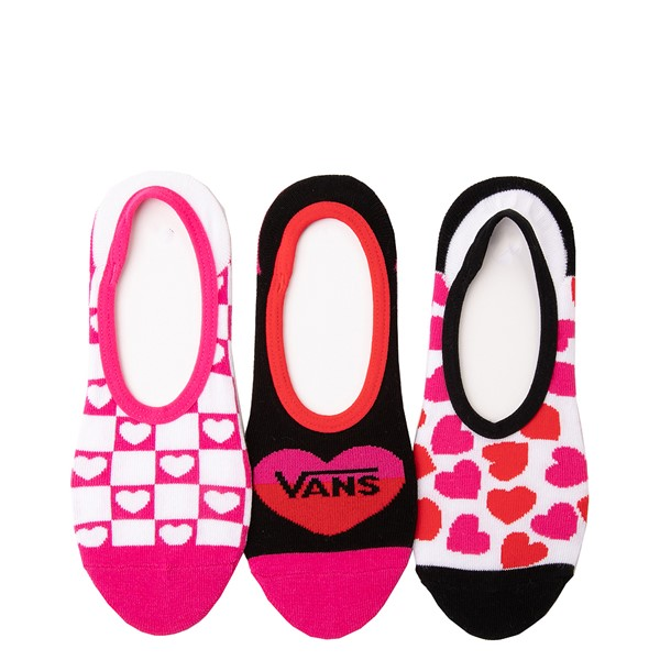 Womens Vans Heart Canoodle Liners 3 Pack - Multicolor