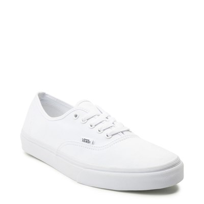 Alternate view of White Vans Authentic Skate Shoe