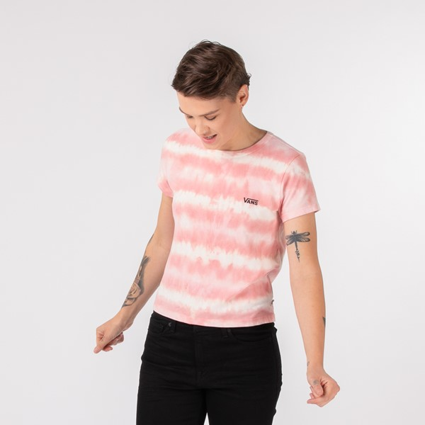 Womens Vans Sun Waves Baby Doll Tee - Coral Almond Tie Dye