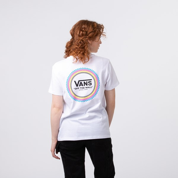 Main view of Womens Vans All Around Boyfriend Tee - White