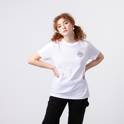Alternate view of Womens Vans All Around Boyfriend Tee - White