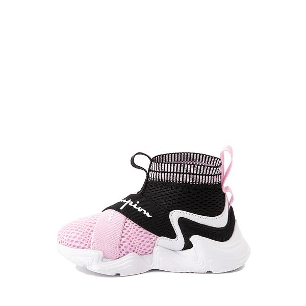 alternate view Champion Hyper C X Athletic Shoe - Baby / Toddler - Black / White / PinkALT1