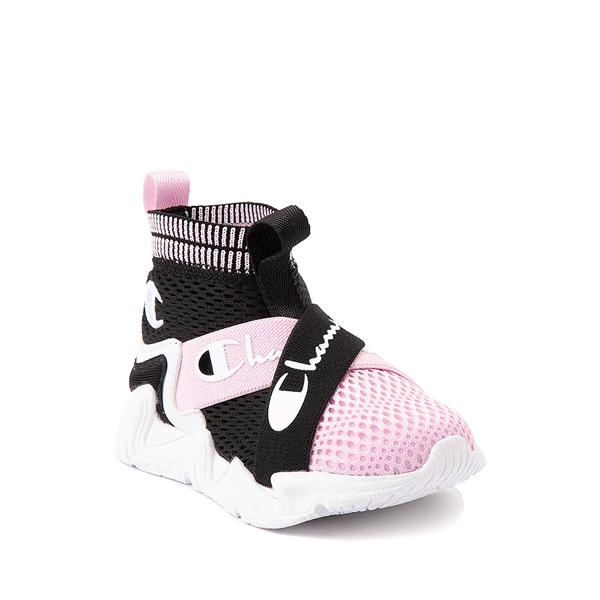 alternate view Champion Hyper C X Athletic Shoe - Baby / Toddler - Black / White / PinkALT5