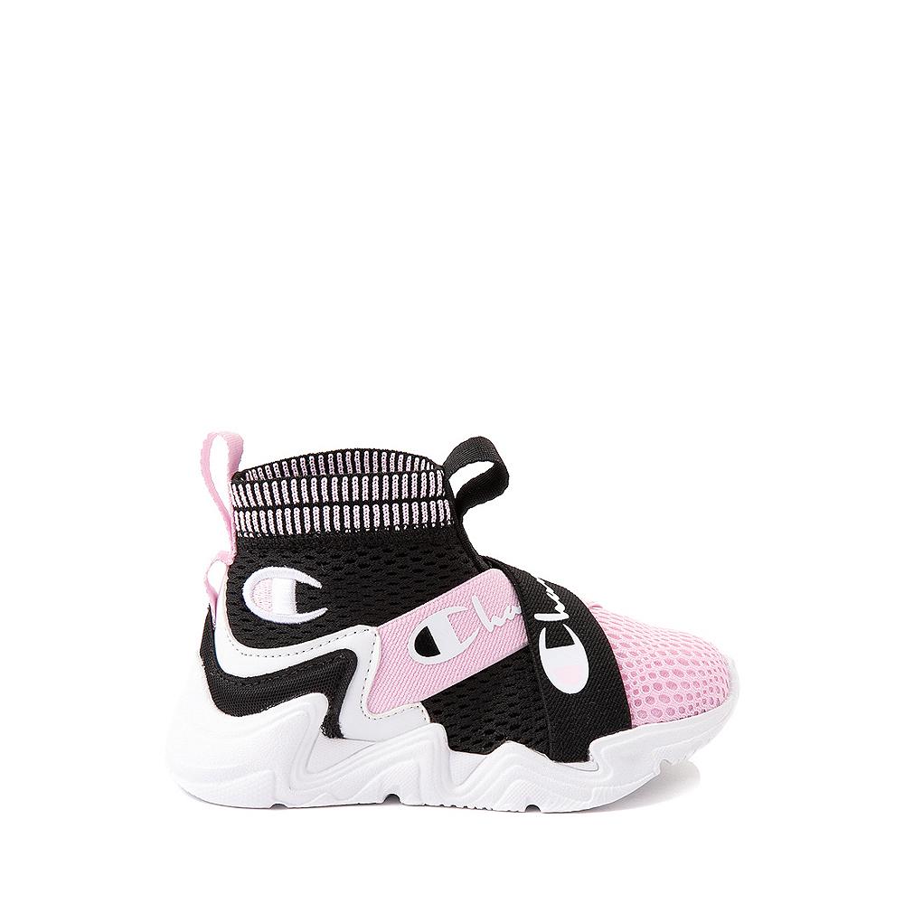 Champion Hyper C X Athletic Shoe - Baby / Toddler - Black / White / Pink