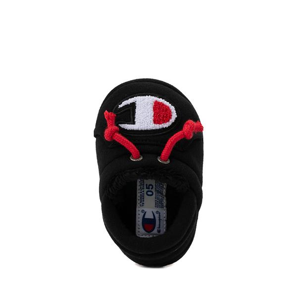 alternate view Champion University Slipper - Baby / Toddler - Black / RedALT2