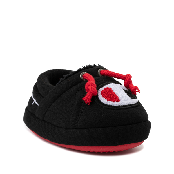 alternate view Champion University Slipper - Baby / Toddler - Black / RedALT5