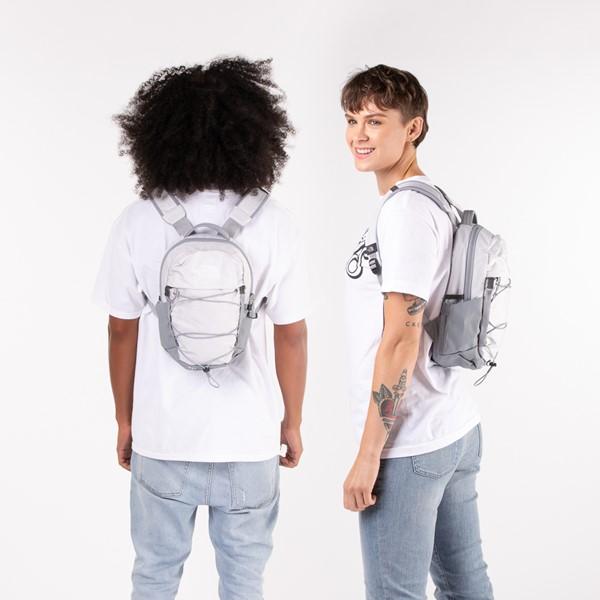 alternate view The North Face Borealis Mini Backpack - Metallic WhiteALT1BADULT