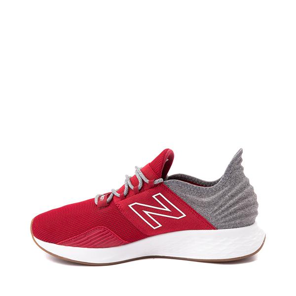 alternate view Mens New Balance Fresh Foam Roav Athletic Shoe - Burgundy / Gray / WhiteALT1