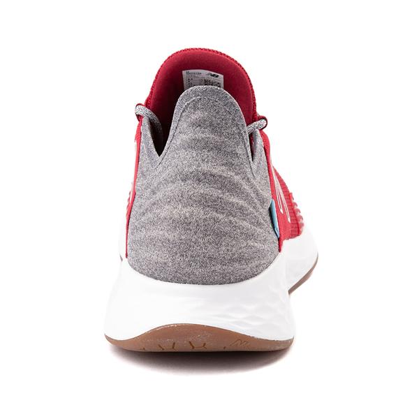alternate view Mens New Balance Fresh Foam Roav Athletic Shoe - Burgundy / Gray / WhiteALT4