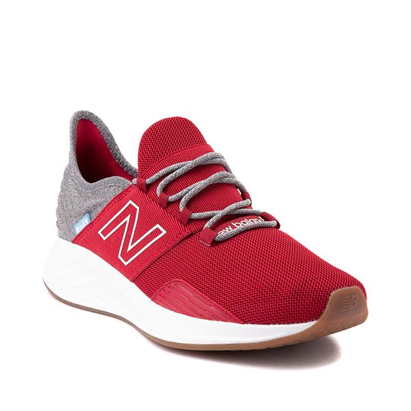 alternate view Mens New Balance Fresh Foam Roav Athletic Shoe - Burgundy / Gray / WhiteALT5