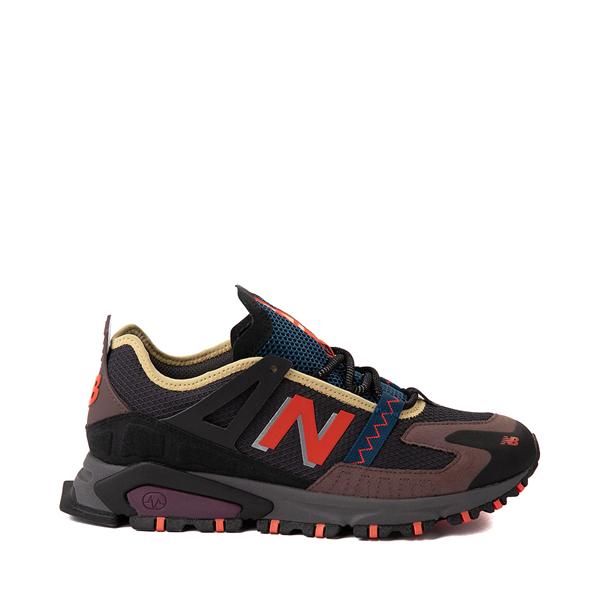 Mens New Balance X-Racer Athletic Shoe - Gray / Black / Orange