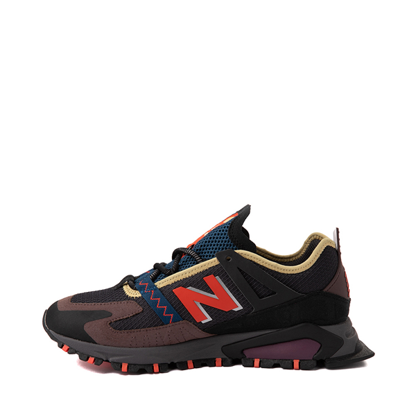 alternate view Mens New Balance X-Racer Athletic Shoe - Gray / Black / OrangeALT1