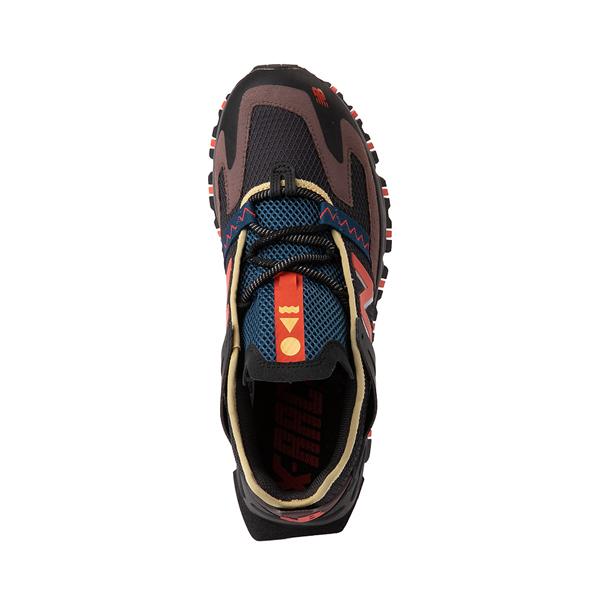 alternate view Mens New Balance X-Racer Athletic Shoe - Gray / Black / OrangeALT2