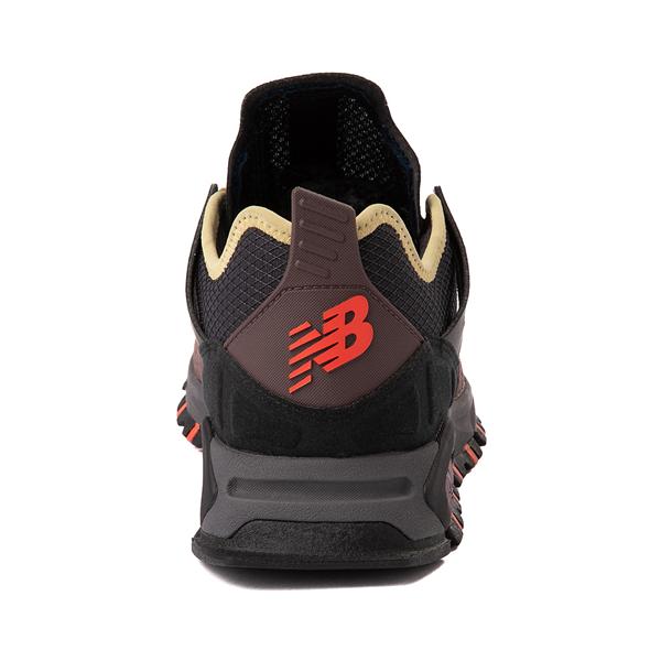 alternate view Mens New Balance X-Racer Athletic Shoe - Gray / Black / OrangeALT4