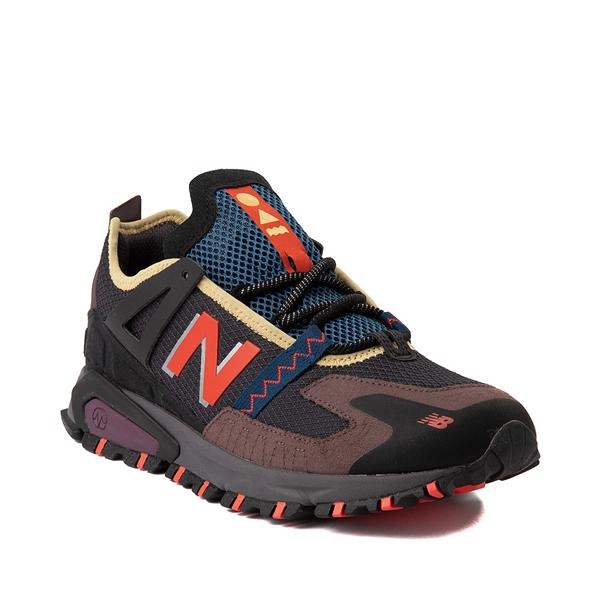 alternate view Mens New Balance X-Racer Athletic Shoe - Gray / Black / OrangeALT5