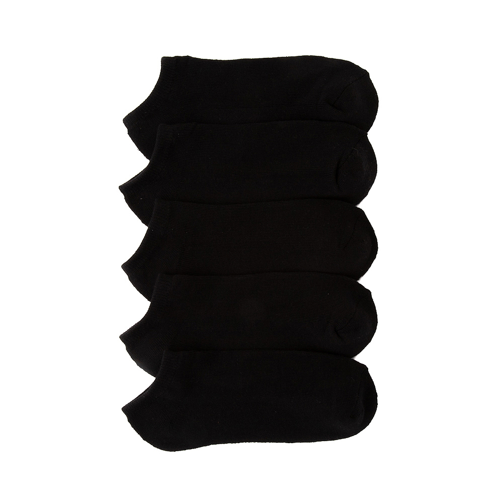 Womens Footies 5 Pack - Black