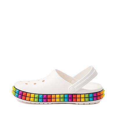 Alternate view of Crocs Classic 3D Shapes Clog - White / Rainbow