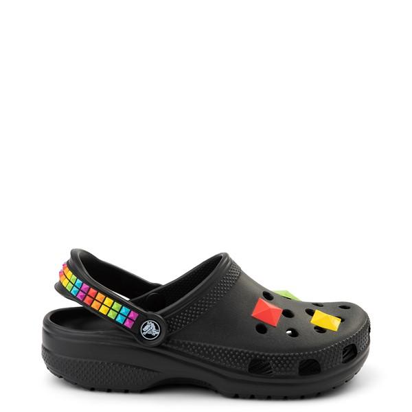 Crocs Classic 3D Shapes Clog - Black / Rainbow