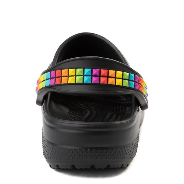 alternate view Crocs Classic 3D Shapes Clog - Black / RainbowALT4