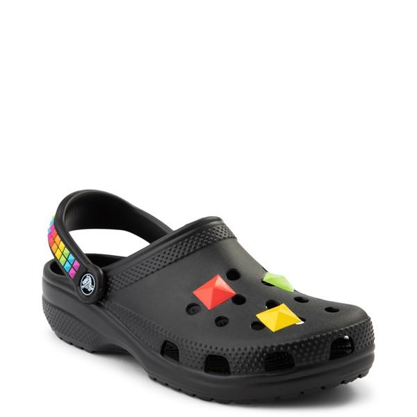alternate view Crocs Classic 3D Shapes Clog - Black / RainbowALT5
