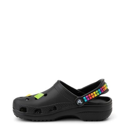 Alternate view of Crocs Classic 3D Shapes Clog - Black / Rainbow
