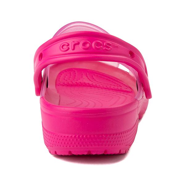 alternate view Crocs Classic Translucent Clog - Candy PinkALT4