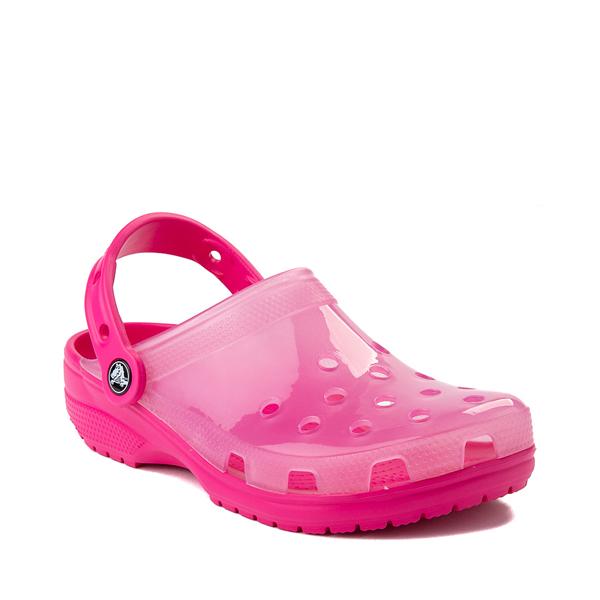 alternate view Crocs Classic Translucent Clog - Candy PinkALT5