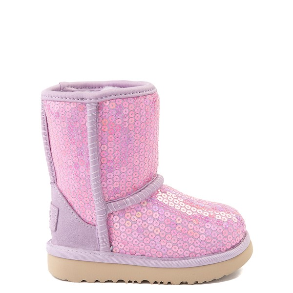 Main view of UGG® Classic II Stellar Sequin Boot - Toddler / Little Kid - Lilac Frost