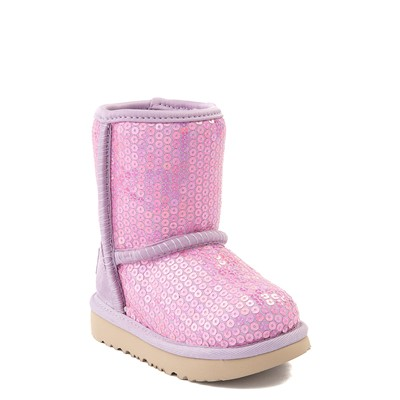 Alternate view of UGG® Classic II Stellar Sequin Boot - Toddler / Little Kid - Lilac Frost