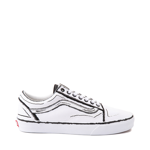 Vans Old Skool Sketch Skate Shoe - White