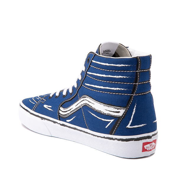 alternate view Vans Sk8 Hi Sketch Skate Shoe - True BlueALT1