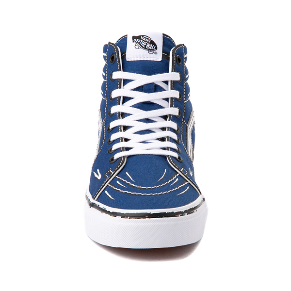 alternate view Vans Sk8 Hi Sketch Skate Shoe - True BlueALT4