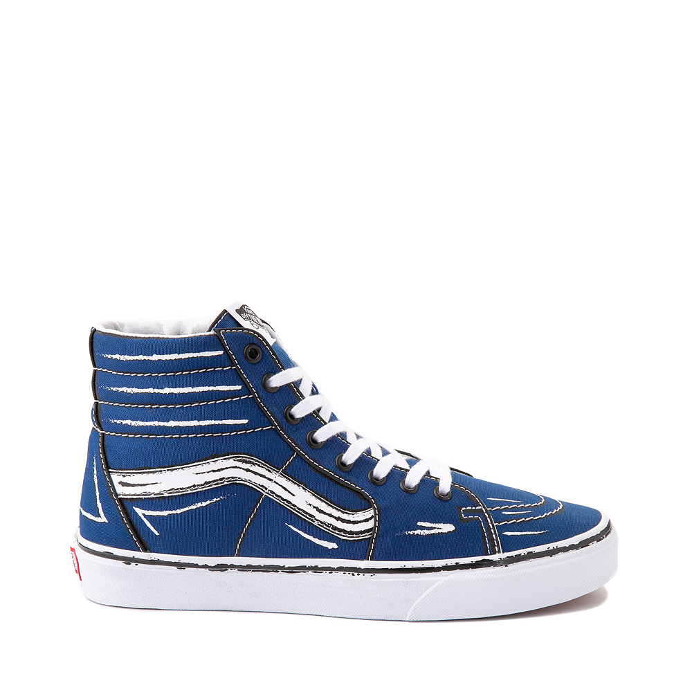 Vans Sk8 Hi Sketch Skate Shoe - True Blue
