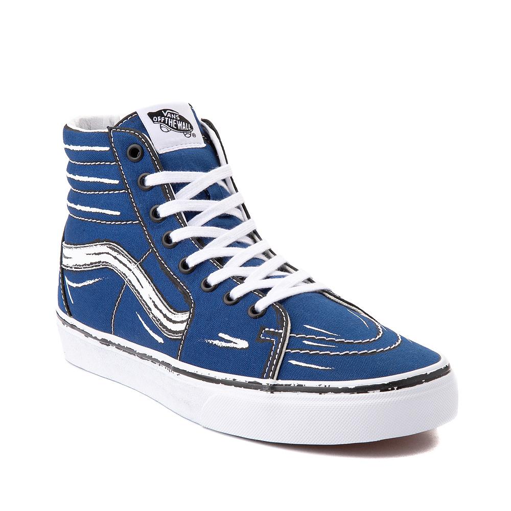 Vans Sk8 Hi Sketch Skate Shoe - True Blue | Journeys