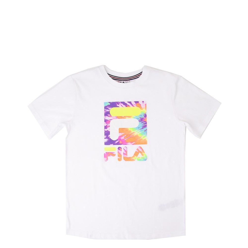 Fila Logo Tee - Little Kid / Big Kid - White / Tie Dye