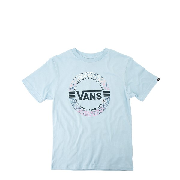Main view of Vans Autism Acceptance Circle Check Foil Tee - Little Kid / Big Kid - Dream Blue