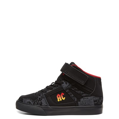 Alternate view of DC Pure Hi AC/DC Skate Shoe - Little Kid / Big Kid - Black