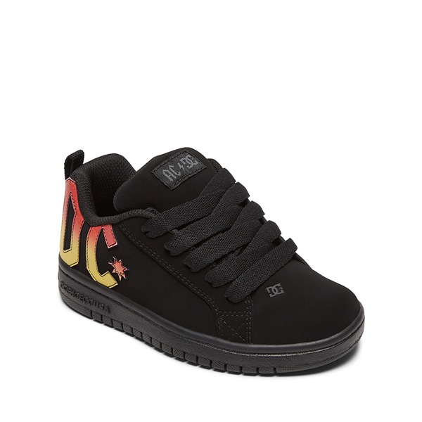 alternate view DC Court Graffik AC/DC Skate Shoe - Little Kid / Big Kid - BlackALT5