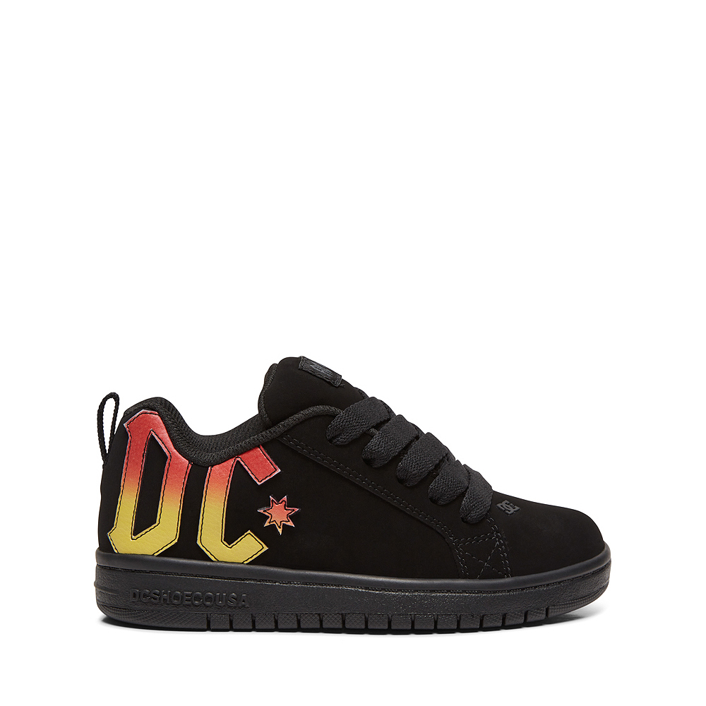 DC Court Graffik AC/DC Skate Shoe - Little Kid / Big Kid - Black
