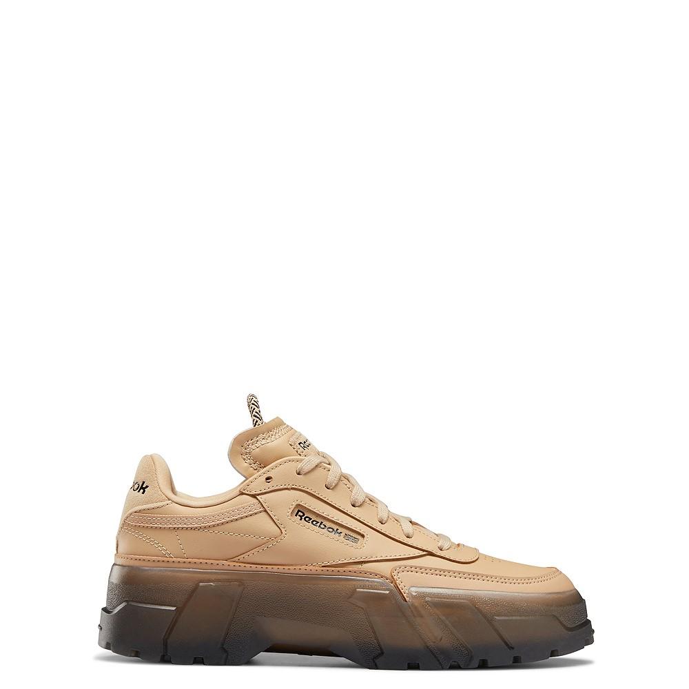 Reebok x Cardi B Club C Athletic Shoe - Big Kid - Tan / Clear