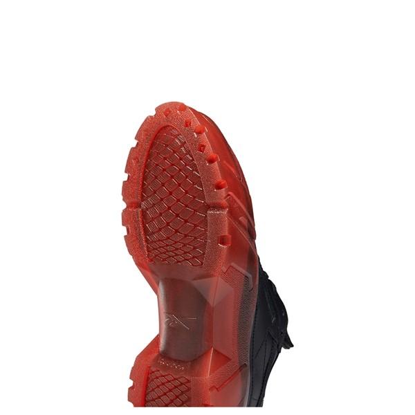 alternate view Reebok x Cardi B Club C Athletic Shoe - Big Kid - Black / Vector RedALT3
