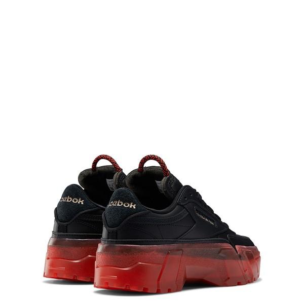 alternate view Reebok x Cardi B Club C Athletic Shoe - Big Kid - Black / Vector RedALT4