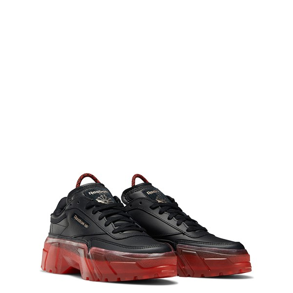 alternate view Reebok x Cardi B Club C Athletic Shoe - Big Kid - Black / Vector RedALT5