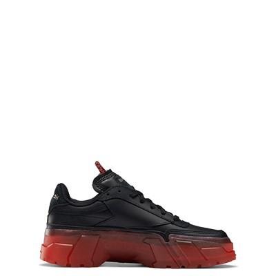 Alternate view of Reebok x Cardi B Club C Athletic Shoe - Big Kid - Black / Vector Red
