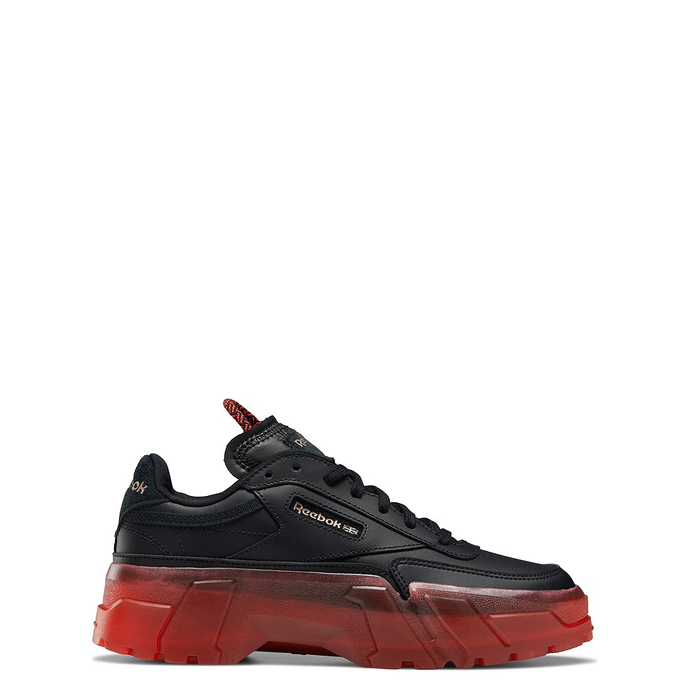 Reebok x Cardi B Club C Athletic Shoe - Big Kid - Black / Vector Red
